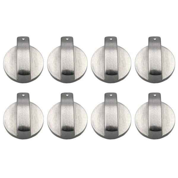 8 Pcs Zinc alloy Rotary Switch Control Knobs Replacement Accessories for Kitchen Cooker Gas Stove Oven Cooktop (Diameter: 8mm/ 0