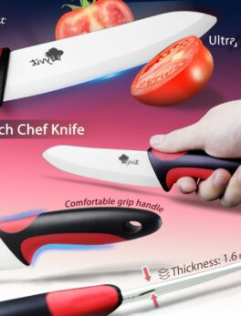 Ceramic Knife Kitchen 3 4 5 6 inch Chef Knives Holder With Peeler White Zirconia Blade Fruit Vegetable Cooking Tool Set