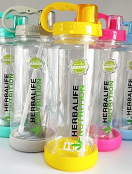 New Arrival Factory wholesale price 1L/2L 1000ml/2000ml Fashion Portable Herbalife Nutrition Sports Straw strap Water Bottle