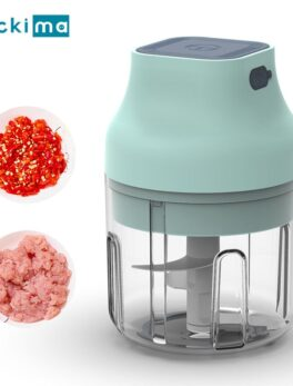 40W Mini Electric Food Garlic Grinder Chopper USB Rechargeable Vegetable Crusher Press Meat Fruit Processor for Baby Food