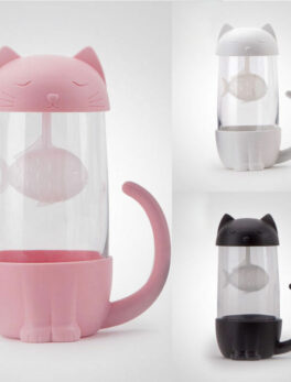 Tea Strainer Cat Dog Style Tea Infuser Cup Mug Glass Teabags Kitchen Tool Gadget Soaking Filter Cup