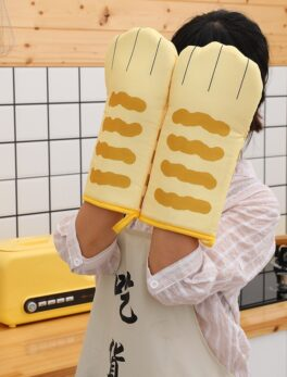 Kitchen insulation gloves oven baking gloves high temperature anti-scalding microwave oven gloves polyester gloves oven mitts