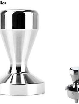 IYouNice Coffee Tamper 51mm Espresso Tamper 51/53/54/58mm Aluminum Alloy Coffee Mat Stainless Steel Coffee Pull Flower Cup