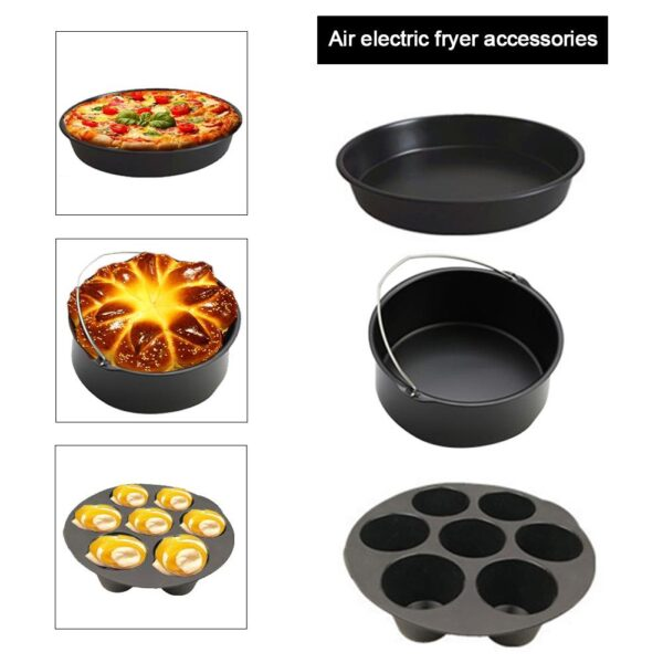 12pcs Air Fryer Accessories Baking Cake Grill Pizza Dish For Gowise Phillips Cozyna And Secura, Fit All Airfryer 3.7QT-5.8QT