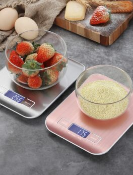 Digital Kitchen Scale, LCD Display 1g/0.1oz Precise Stainless Steel Food Scale for Cooking Baking weighing Scales Electronic