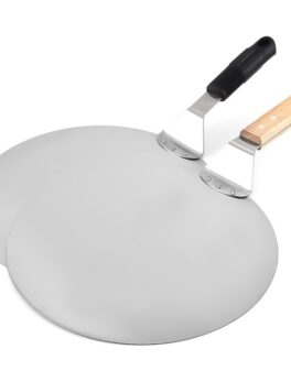 Stainless Steel Pizza Shovel With Long Wooden Handle 10/12inch Pizza Spatula For Oven Pizza Shovel Pizza Paddle Cake Baking Tool