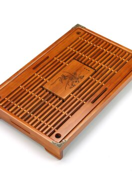 Wooden Kungfu Drawer Tea Tray Water Drainage Table Trays Chinese Tea Room Ceremony Tools 43X27X5.5CM