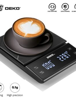 DEKO Portable Electronic Digital Coffee Scale With Timer High Precision LED Display Household Weight Balance Measuring Tools