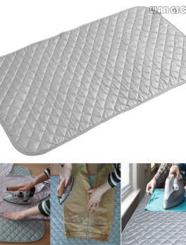 Table Top Ironing Mat Laundry Pad Washer Dryer Cover Board Heat Resistant Blanket Press Clothes Protector Travel Portable