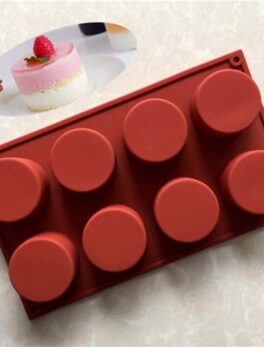 8 Holes Round Silicone Cake Mold 3d Handmade Cupcake Jelly Cookie mould Mini Muffin Soap Maker Eco-friendly Diy Baking Tools