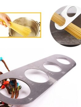 480pcs Stainless Steel Spaghetti Pasta Noodle Measure 4 Sizes in One Tool Durable Kitchen Measurer Measuring Gadget Tools ZA1742