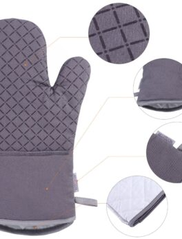 Set of Oven Mitt and Heat Resistant Pot Holder Pad Protective Oven Gloves The Goods for Kitchen Gadgets Party New Year Xmas Gift