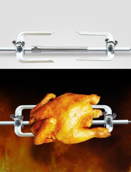 Barbecue Tools Chicken Grill Roasting Fork Stainless Steel Chicken Roaster Rack Oven Accessories Kitchen Tool Home Cook Utensils
