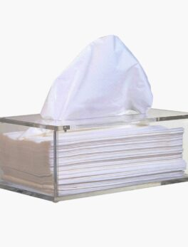 Facial Acrylic Tissue Box, Tissue Holder, Tissue Dispenser with Magnetic Cover