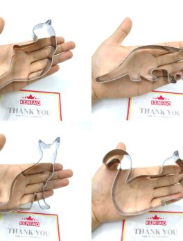 KENIAO Cat Cookie Cutter Set for Kids - 6 PC - Playing Cat, Sitting Cat, Curled Cat Biscuit/Fondant Cutters - Stainless Steel