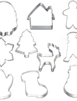 10pcs Cookie Tools Cutter Mould Biscuit Press Icing Set Stamp Mold Dessert Tools Christmas Kitchen Gadgets Wholesale Lot