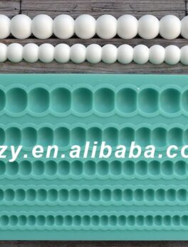 Silicone Mold Pearls Crafts Decorating Cake Candy Making Fondant Silicone Mold Silica Gel Moulds Silicone Rubber PRZY 001