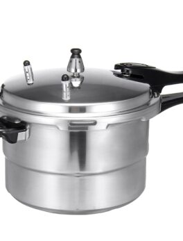 7L Aluminium Alloy Kitchen Pressure Cooker Gas Stove Cooking Safety Protection With Steam Plate For Induction Cooker Gas Furnace