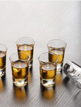 6PCS Crystal Cup Shot Glass Cup Creative Spirits Wine Mini Glass Cup glasses Party Drinking Charming Thick Small Cup