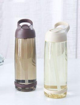 1000ml Outdoor Water Bottle with Straw Sports Bottles Eco-friendly with Lid Hiking Camping Plastic BPA Free H1098