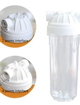 Explosion-proof Filtering Bottle Transparent Water Filter Bottle for Water Purifiers Home Appliance 2/4 Interface 10 Inches